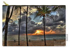 Carry-all Pouch featuring the photograph Fort Lauderdale Beach Florida - Sunrise by Timothy Lowry