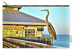 Fort Myers Beach Bird On Pier Carry-all Pouch