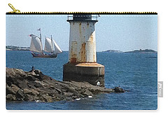 Carry-all Pouch featuring the photograph Fort Pickering Light by Denyse Duhaime