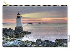 Fort Pickering Lighthouse At Sunrise Carry-all Pouch