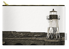 Fort Point Lighthouse Carry-all Pouch by Holly Blunkall