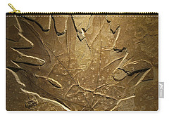 Fossilized Maple Leaf Carry-all Pouch