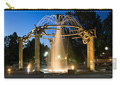 Fountain In Riverfront Park Carry-all Pouch