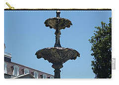 Carry-all Pouch featuring the painting Fountain  by Robin Maria Pedrero
