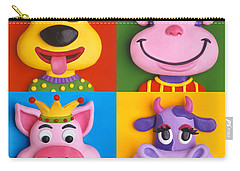 Four Animal Faces Carry-all Pouch