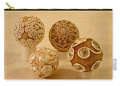Carry-all Pouch featuring the photograph Four Balls by Sandra Foster