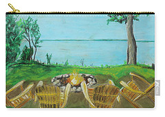 Carry-all Pouch featuring the painting Four Chairs by Jeanne Fischer
