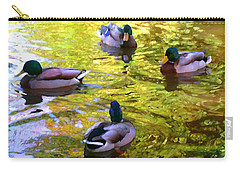 Four Ducks On Pond Carry-all Pouch
