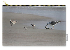 Four Feathers And A Fish Carry-all Pouch