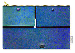 Four Five Six - Colorful Rust - Blue Carry-all Pouch