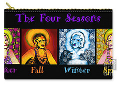 Four Seasons In A Row Carry-all Pouch by Carol Jacobs