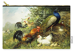 Fowl And Peacocks Carry-all Pouch by Arthur Fitzwilliam Tait
