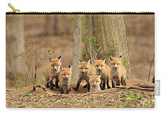 Fox Family Portrait Carry-all Pouch by Everet Regal