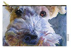 Fox Terrier Full Carry-all Pouch by John D Benson