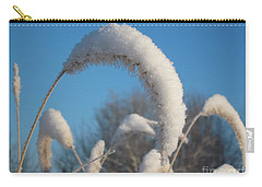 Foxtail Grass With Snow  Carry-all Pouch