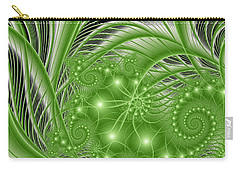 Fractal Abstract Green Nature Carry-all Pouch by Gabiw Art