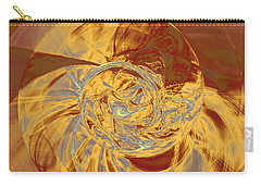 Fractal Ammonite Carry-all Pouch by Menega Sabidussi