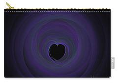 Carry-all Pouch featuring the digital art Fractal Blue by Henrik Lehnerer