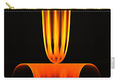 Carry-all Pouch featuring the digital art Fractal Flame by GJ Blackman