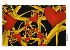 Fractal Love Ist Gold Carry-all Pouch by Gabiw Art