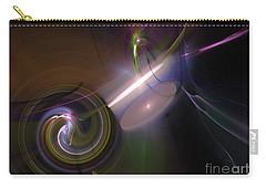 Carry-all Pouch featuring the digital art Fractal Multi Color by Henrik Lehnerer