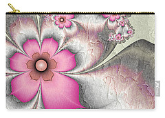Fractal Nostalgic Flowers 2 Carry-all Pouch by Gabiw Art