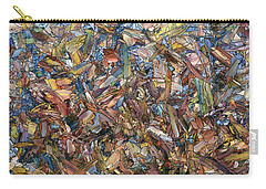 Carry-all Pouch featuring the painting Fragmented Fall - Square by James W Johnson