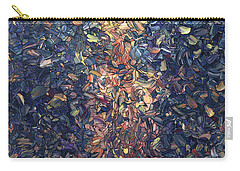 Carry-all Pouch featuring the painting Fragmented Flame by James W Johnson