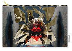 Carry-all Pouch featuring the digital art Fragmented Passion Nest by Rosa Cobos