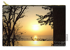 Framed Golden Sunset Carry-all Pouch