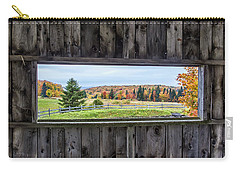 Framed-autumn In Vermont Carry-all Pouch by John Vose