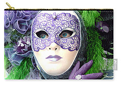Carry-all Pouch featuring the photograph Francine's Purple Glove by Donna Corless