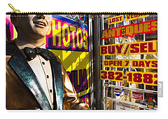 Frank Sinatra Statue, Las Vegas Carry-all Pouch by Panoramic Images