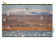 Carry-all Pouch featuring the photograph Freeze Out Lake Morning by Jack Bell