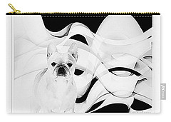 Carry-all Pouch featuring the painting French Bulldog by Barbara Chichester