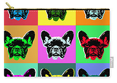 French Bulldog Carry-all Pouch by Jean luc Comperat