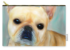 Carry-all Pouch featuring the painting French Bulldog Mystique D'or by Barbara Chichester