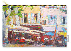 French Cafe Avignon Palette Knife Oil Painting Carry-all Pouch