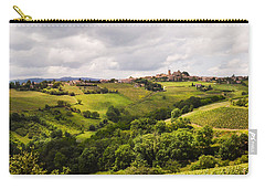 Carry-all Pouch featuring the photograph French Countryside by Allen Sheffield