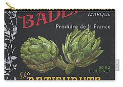 French Veggie Labels 1 Carry-all Pouch by Debbie DeWitt