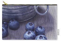 Fresh Picked Blueberries With Vintage Feel Carry-all Pouch