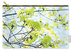 Carry-all Pouch featuring the photograph Fresh Spring Green Buds by Brooke T Ryan