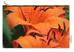 Freshly Showered Tiger Lilys Carry-all Pouch
