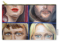Carry-all Pouch featuring the painting Frida Benny Bjorn Agnetha by Daniel Janda