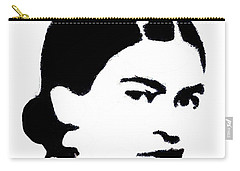 Frida Black And White Carry-all Pouch