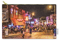 Friday Night On Beale Carry-all Pouch by Liz Leyden
