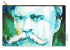 Friedrich Nietzsche Watercolor Portrait.1 Carry-all Pouch by Fabrizio Cassetta