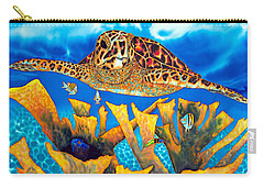Friendly Hawksbill Sea Turtle Carry-all Pouch