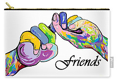 Friends . . . An American Sign Language Painting Carry-all Pouch