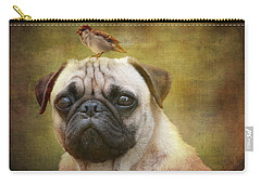 Friends Like Pug And Bird Carry-all Pouch